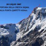 28 LUGLIO 1887 – APERTURA DELLA CRESTA SIGNAL ALLA PUNTA GNIFETTI 4554m.
